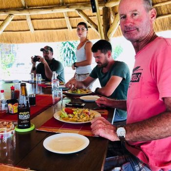 lunch at Entebbe hotel restaurant
