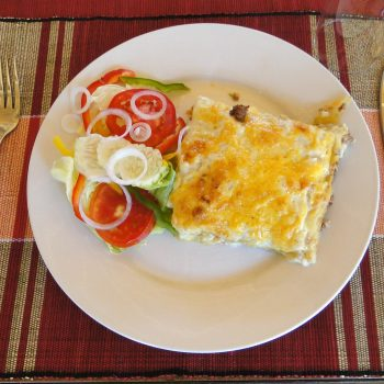 Beef Lasagne at the Entebbe palm hotel