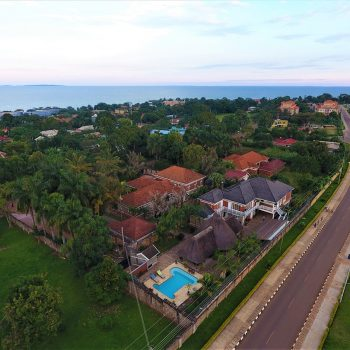 Entebbe Palm hotel aerial photo