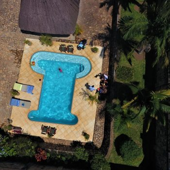 Entebbe Palm hotel aerial photo of pool
