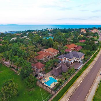 Entebbe Palm hotel aerial photo of area
