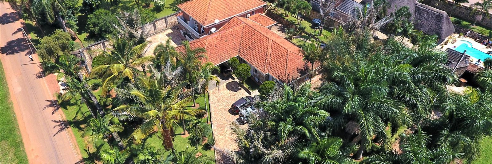 Aerial view of entebbe palm hotel