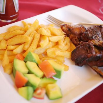Lunch at the entebbe palm hotel bar & restaurant