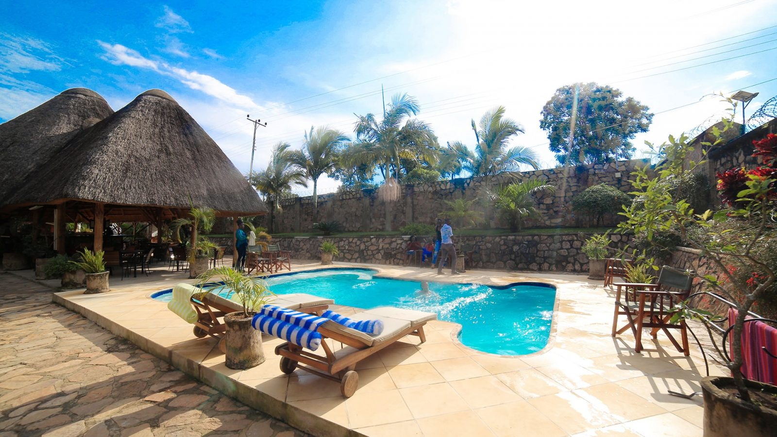 entebbe palm hotel pool area